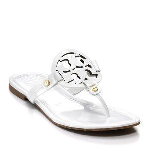 f517a9e2201556 Tory Burch Shoes - 🎉White Tory Burch Miller sandal 9.5